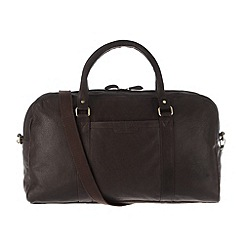 Pure Luxuries London - Brown 'Cargo' finest natural leather holdall