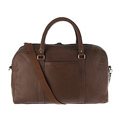 Pure Luxuries London - Chestnut 'Cargo' finest natural leather holdall
