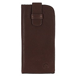 Pure Luxuries London - Brown 'Malton' leather glasses case