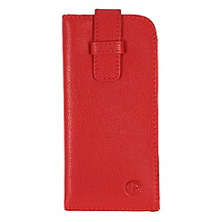 Pure Luxuries London - Red 'Malton' leather glasses case