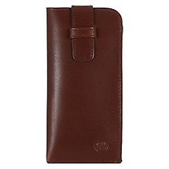 Pure Luxuries London - Italian style tan 'Malton' leather glasses case