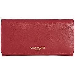 Pure Luxuries London - Garnet red 'Lina' natural leather RFID purse