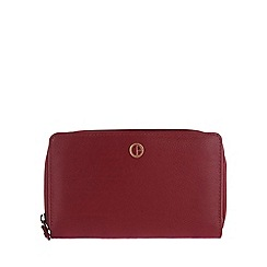 Pure Luxuries London - Red 'Primrose' natural leather purse