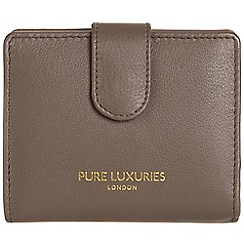 Pure Luxuries London - Cedar brown 'Hornsey' natural leather RFID purse