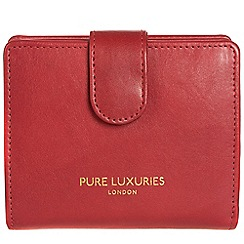Pure Luxuries London - Cherry red 'Hornsey' natural leather RFID purse