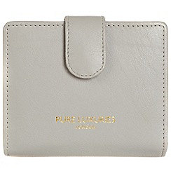 Pure Luxuries London - Cloud grey 'Hornsey' natural leather RFID purse