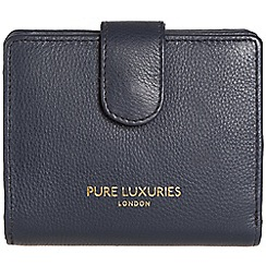 Pure Luxuries London - Midnight blue 'Hornsey' natural leather RFID purse