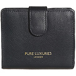 Pure Luxuries London - Oxford blue 'Hornsey' natural leather RFID purse