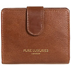 Pure Luxuries London - Pecan brown 'Hornsey' natural leather RFID purse