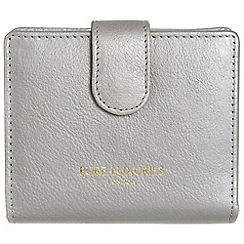 Pure Luxuries London - Silver 'Hornsey' natural leather RFID purse