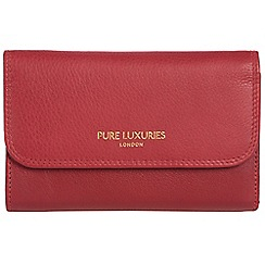 Pure Luxuries London - Cherry red 'Windsor' natural leather RFID purse