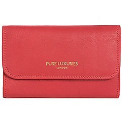 Pure Luxuries London - Lipstick pink 'Windsor' natural leather RFID purse