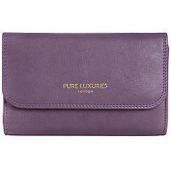 Pure Luxuries London - Purple 'Windsor' natural leather RFID purse