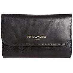 Pure Luxuries London - Raven black 'Windsor' natural leather RFID purse
