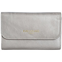 Pure Luxuries London - Silver 'Windsor' natural leather RFID purse