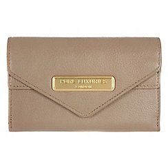 Pure Luxuries London - Taupe 'Lusk' fine natural leather purse