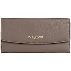 Pure Luxuries London - Cedar brown 'Perth' natural leather RFID purse