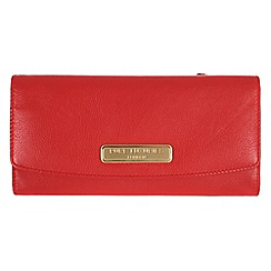 Pure Luxuries London - Red 'Perth' fine natural leather purse
