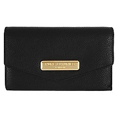 Pure Luxuries London - Black 'Galway' fine natural leather purse