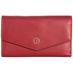 Pure Luxuries London - Cherry red 'Galway' natural leather RFID purse
