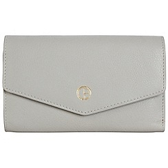 Pure Luxuries London - Cloud grey 'Galway' natural leather RFID purse
