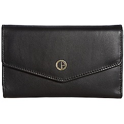 Pure Luxuries London - Ebony black 'Galway' natural leather RFID purse