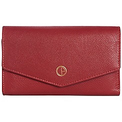 Pure Luxuries London - Garnet red 'Galway' natural leather RFID purse
