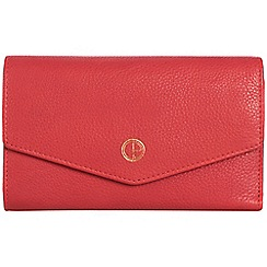 Pure Luxuries London - Lipstick pink 'Galway' natural leather RFID purse