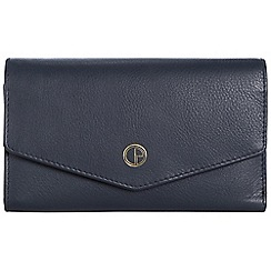Pure Luxuries London - Midnight blue 'Galway' natural leather RFID purse