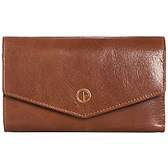 Pure Luxuries London - Pecan brown 'Galway' natural leather RFID purse