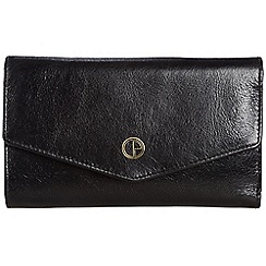 Pure Luxuries London - Raven black 'Galway' natural leather RFID purse
