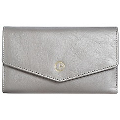 Pure Luxuries London - Silver 'Galway' natural leather RFID purse