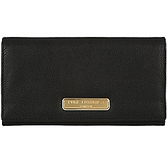 Pure Luxuries London - Black 'Bronte' fine leather purse - Deluxe Collection
