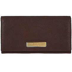 Pure Luxuries London - Brown 'Bronte' leather purse - Deluxe Collection