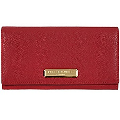 Pure Luxuries London - Red 'Bronte' fine leather purse - Deluxe Collection