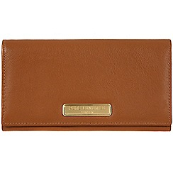 Pure Luxuries London - Tan 'Bronte' leather purse - Deluxe Collection
