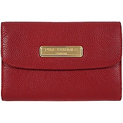 Pure Luxuries London - Red 'Shelley' leather purse - Deluxe Collection