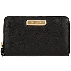 Pure Luxuries London - Black 'Woolf' leather purse - Deluxe Collection