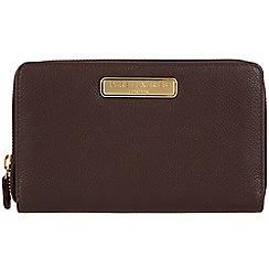 Pure Luxuries London - Brown 'Woolf' fine leather purse - Deluxe Collection