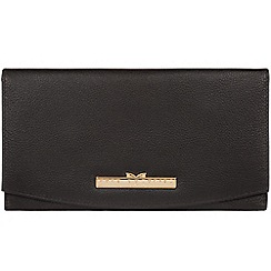 Pure Luxuries London - Black 'Rose' leather purse - Deluxe Collection
