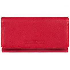Pure Luxuries London - Red 'Gina' fine cowhide RFID purse  Deluxe Collection