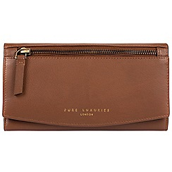 Pure Luxuries London - Tan 'Jessie' soft leather RFID purse