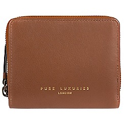 Pure Luxuries London - Tan 'Marsha' compact leather RFID purse
