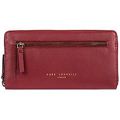 Pure Luxuries London - Red 'Tanya' zip around RFID purse