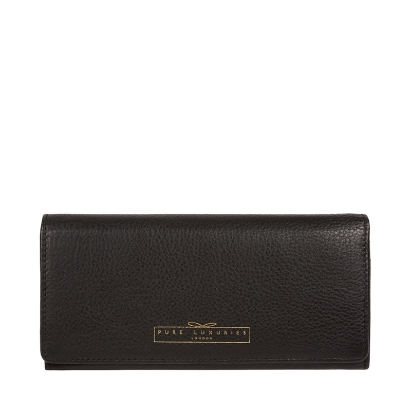Pure Luxuries London Black 'Holly' leather RFID purse - MISC - Purses (P5056032749696) photo