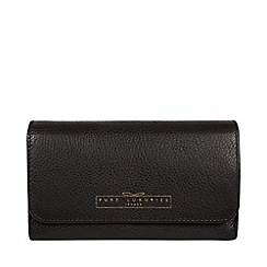 Pure Luxuries London - Black 'Emmaline' RFID kiss-clasp leather purse
