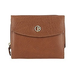 Pure Luxuries London - Dark tan 'Somerton' finest natural leather purse
