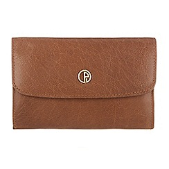 Pure Luxuries London - Dark tan 'Amesbury' finest natural leather purse