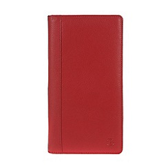 Pure Luxuries London - Red 'York' fine natural leather zipped travel wallet
