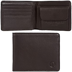 Pure Luxuries London - Dark brown 'Troon' leather RFID wallet